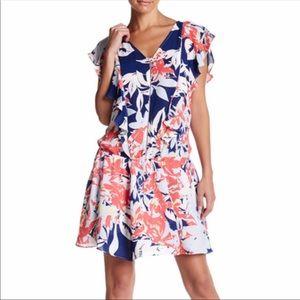 NWT Parker Size L Gardenia floral A- line dress 👗
